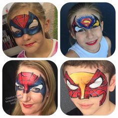 Boy Face, Male Face, Hulk Spiderman, Superman, Spider Face Painting, Superhero Birthday Party, Face Painting Designs, Programming For Kids, Balloon Animals
