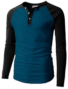 a5130be103 H2H Mens Casual Slim Fit Raglan Baseball Three-Quarter Sleeve Henley  T-Shirts at Amazon Men's Clothing store: