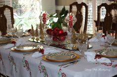 Hello and welcome to my home as I join a group of bloggers for a Holiday Tablescape Blog hop sponsored by Chloe Crabtree  @Celebrate...