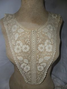 Vintage Off White Sheer Net Lace Dickie by marcisfinds on Etsy