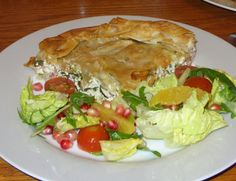 Jenny Eatwell's Rhubarb & Ginger: Greek style three-cheese & ham filo pie - and Christmas salad