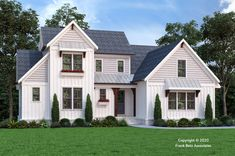 The Blair Valley is a perfect example of the Modern farmhouse design style. Modern Farmhouse Design, Floor Layout, Guest Suite, Master Suite, Best House Plans, Build Your Dream Home, Large Windows, New Homes, Floor Plans