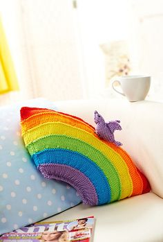 Ravelry: Rainbow cushion pattern by Wendy Mould