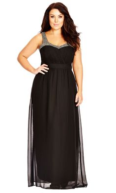 City Chic Embellished Strap Maxi Dress