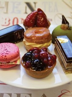 Mark Tilling's mouthwatering selection of French pastries.