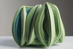 """Noriko Takamiya,   paper construction, 6.25"""" x 6.25"""" x 5"""""""