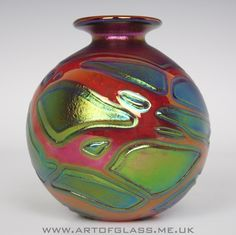 Phoenician iridescent red glass vase
