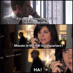 Mozzie in the FBI. White Collar Quotes