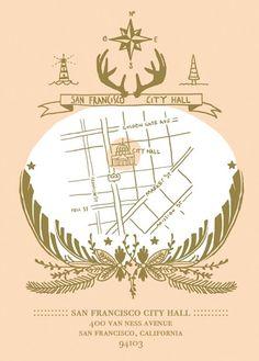 19 Map-Inspired Wedding Invitations via Brit + Co.