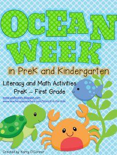 Yay for PreK! : Ocean Week In PreK and a Giveaway! ocean activities for preK and Kindergarten