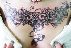 chestpiece tattoo woman - Google-søk                                                                                                                                                                                 More