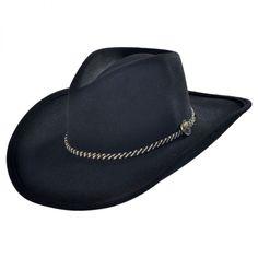 a39212fa93c10 Rawhide Buffalo Fur Felt Western Hat