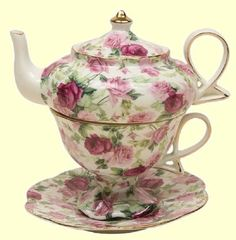 ❤ chintz tea for one