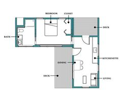 Browse nearly ready-made house plans to find your dream home today. Floor plans can be easily modified by our in-house designers. L Shaped House Plans, Small House Floor Plans, Simple House Plans, Cottage Style House Plans, Cottage Plan, Ranch House Plans, The Plan, How To Plan, Plan Plan