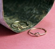Gold Friendship Rings Love Me Knot - Free Shipping. $42.00, via Etsy.