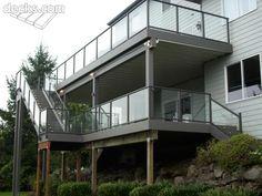 Glass railing deck