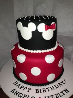 mickey and minnie cake - Google Search
