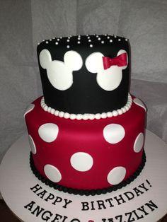mickey and minnie cake - Google Search
