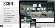 SCRN - Responsive one page single page portfolio Full - Theme Lock
