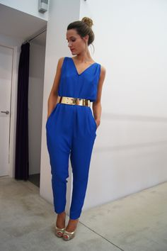 Stunning in Cobalt blue Fiesta Outfit, Picture Outfits, Evening Outfits, Tulum, Party Wear, Beautiful Outfits, Spring Outfits, Fashion Looks, Fashion Outfits