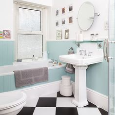 Duck-egg blue bathroom | Bathroom | Spring decorating ideas | PHOTO GALLERY | Style at Home | housetohome.co.uk