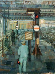 John Humphrey Spender - Station Scene, 1953