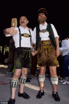 Champions League finalists Bayern Munich urged fans on Friday to get their traditional Bavarian attire out of the closets for Saturday's Bundesliga title party, with the club parading 22 of their best players of the past. German Men, German Folk, Truth Or Consequences, Lederhosen, Losing Her, Traditional Dresses, Munich, Hipster, Punk