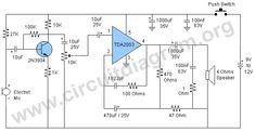 Voice Amplifier Circuit, Megaphone Circuit