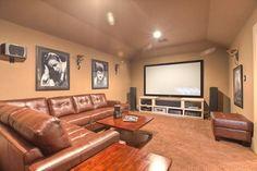 Elegant, classic and expansive design - traditional - media room - houston - Silvan Homes
