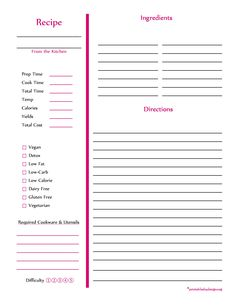 The charming 44 Perfect Cookbook Templates [+Recipe Book & Recipe Cards] Pertaining To Full Page Recipe Template For Word pics … Recipe Template For Word, Printable Recipe Page, Recipe Book Templates, Cookbook Template, Cookbook Ideas, Cookbook Design, Card Templates, Recipe Printables, Cookbook Display