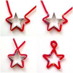 Instructions for a Pipe Cleaner's Star Tutorial for a Star made of pipe cleaner and beads  //  schaeresteipapier: Anleitung für einen Stern aus Pfeifenputzer  Tutorial for a Star made from pipe cleaner and beads