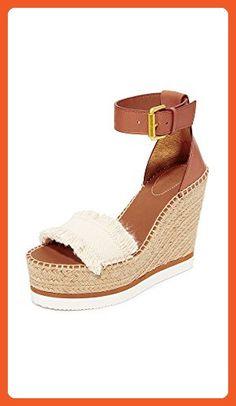 See by Chloe Women's Wedge Espadrilles, Canvas, 38 EU (8.5 B(M) US Women) - Sandals for women (*Amazon Partner-Link)