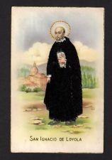 Embroidered Postcard religious theme San Ignacio de Loyola