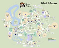 Great map of Magic Kingdom with Fastpass plus locations, rides, shows, characters, dining and shopping locations - from KennythePirate #dvcrentals