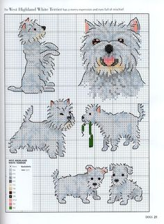 Needle-Works Butterfly: Dogs And Puppies Cross Stitch Patterns .... more on website ;O)