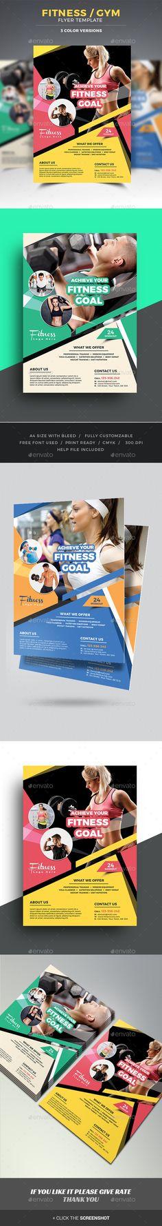 Fitness Flyer Template PSD. Download here: http://graphicriver.net/item/fitness-flyer/15926667?ref=ksioks