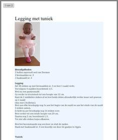 Legging en tuniek breien pop