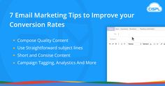 In the world of e-commerce, there are many ways that you can increase revenue for your business. Take a look at effective 7 email marketing tips to increase the conversion rates. #email_marketing_tips #CodeClouds