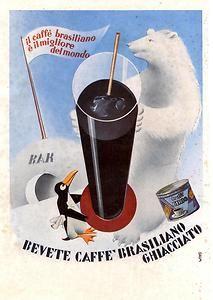 Pubblicità CAFFE' CIRIO Orso Pinguino Anni 30 Advert Reklame Publicitè Vintage | eBay