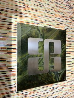 Our Bedrosians Tile and Stone logo displayed in our Las Vegas showroom! Nice!