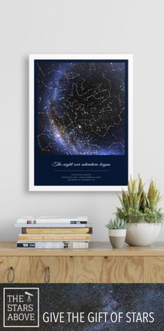 Unique beautiful custom star map, great gift for any occasion, Capture the night sky above that special moment Unique Anniversary Gifts, Unique Housewarming Gifts, Personalised Gifts Unique, Personalized Anniversary Gifts, Unique Birthday Gifts, Sentimental Gifts, Customized Gifts, Custom Gifts, Valentines Day For Boyfriend