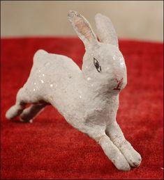 Antique Christmas ornament - RUNNING RABBIT
