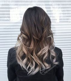 17 Black to silver ombre hair