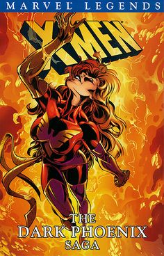 Love love the dark side of X-men's Jean Grey - Dark Phoenix. This cover from Dark Phoenix Saga Marvel Legend.