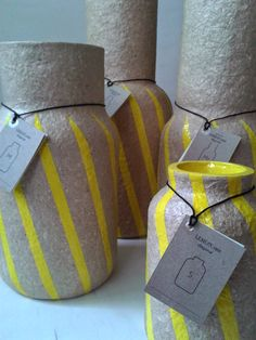 PAPER UP! COLLECTION - upcycling Lemon Vase, Reuse, Upcycle, Slow Design, Showroom, Recycling, Gift Wrapping, Paper, Modern
