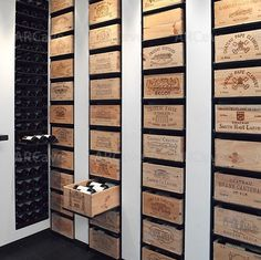 Awesome wine cellar idea for those with lots of wooden wine boxes lying around. #wine #winecellar #cellar