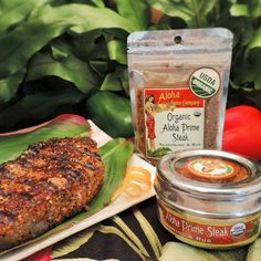 Organic Aloha Prime Steak Seasoning & Rub 2.5oz Stand Up Resealable Pouch FREE SHIPPING ON ORDERS OVER $50. This rub is specifically made to create the most amazing crust of flavor on your steak. With the perfect amount of tang, spice and salt this blend is bold with a depth of flavors. Made with Aloha in small batches using only the finest Organic ingredients and Hawaiian Sea Salt.