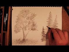 How to Draw a Tree - YouTube (Watch the sidebar...)