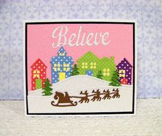 Ann Greenspan's Crafts: Santa's Sleigh cards