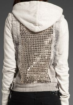 Pyramid stud hoodie. Not sure if want..
